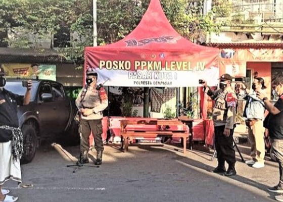 Nusabali.com - kapolsek-kuta-launching-posko-pengawasan-ppkm-level-4