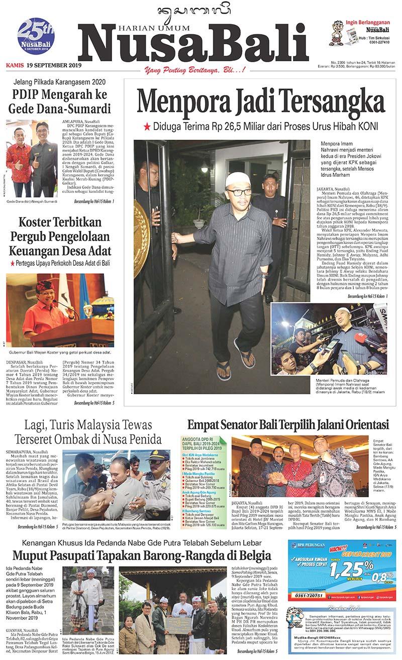 NusaBali.com Cover Hari Ini