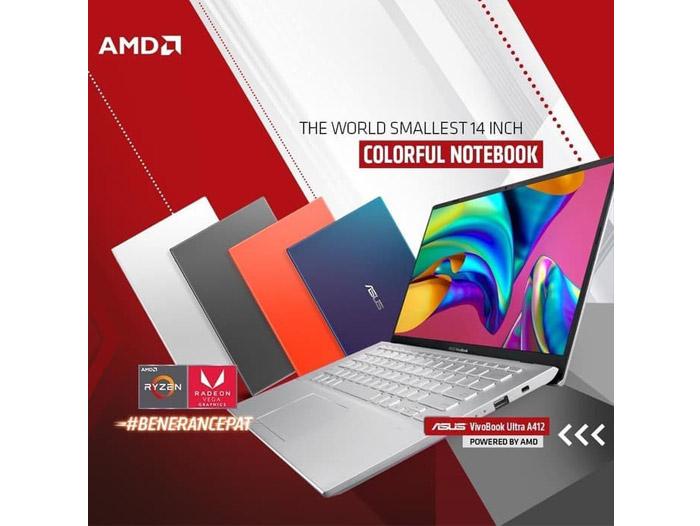 ASUS A412DA-EK351T AMD RYZEN 3-3200U SSD 512GB W10 + Tas - Senggol Bali