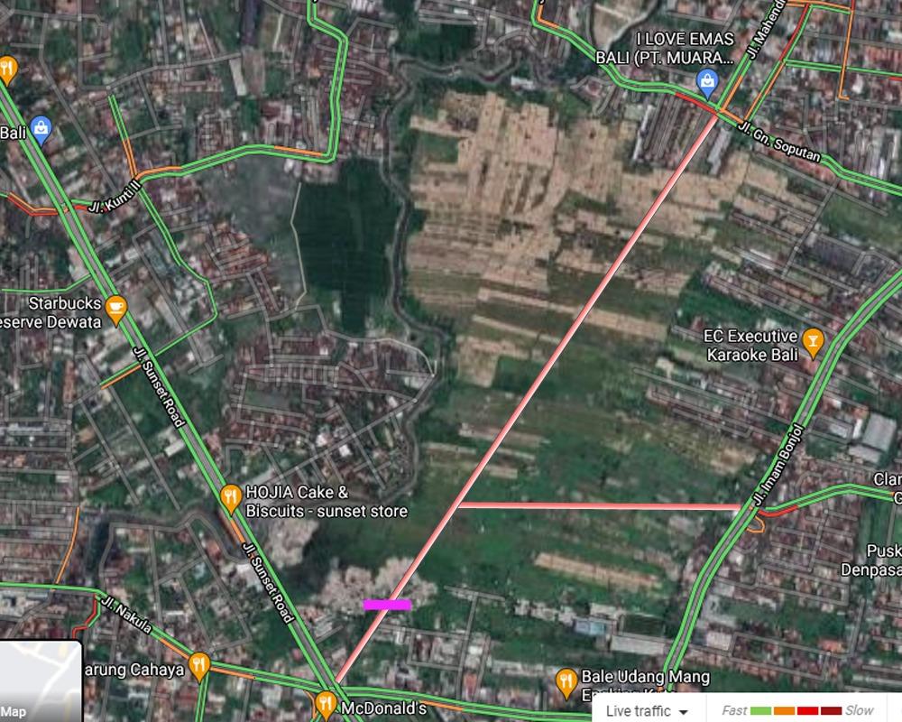 Dijual Tanah 21 Are Lokasi Subak Mergaya, Sunset Road Kuta - Bali - Senggol Bali